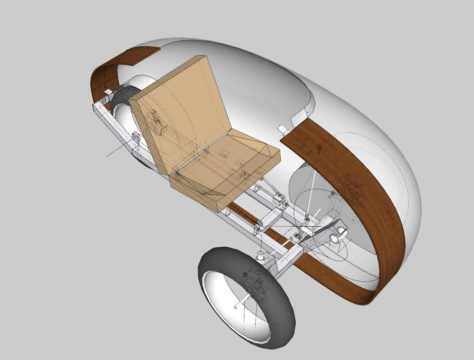 Velopetta design from front with cutaway