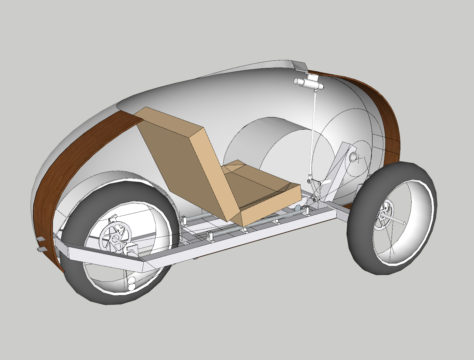 Velopetta design from rear with cutaway